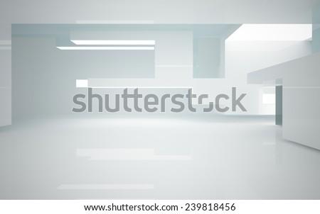 Abstract interior of glass blocks  - stock photo