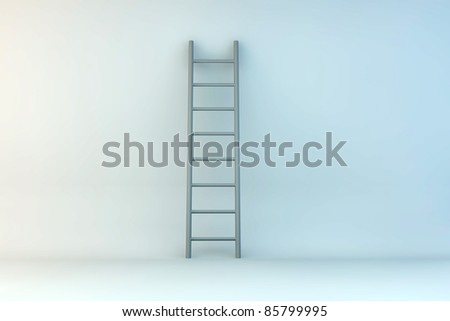 abstract interior with ladder.