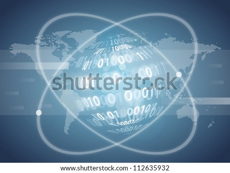 Abstract internet background - stock photo