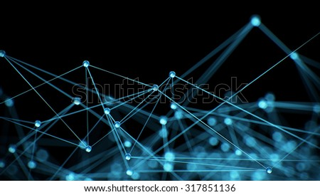 Abstract internet network communication concept background - CG render - stock photo