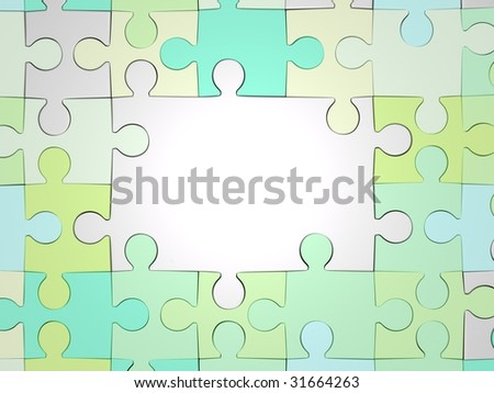 Abstract jigsaw-puzzle background (done in 3d)