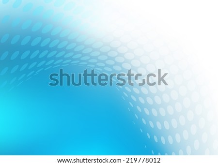 Abstract .jpg image of cool blue smooth white light and dot swirl design. Created in hi-resolution suitable for background, web banner or design element. Plenty of copy space.  - stock photo