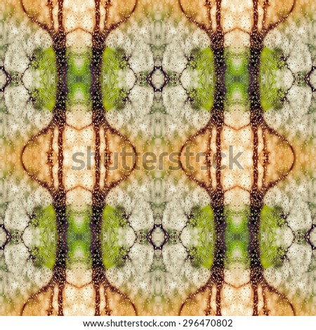 abstract kaleidoscope seamless pattern made from rain drops on glass for use at graphic design - stock photo