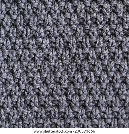 Abstract Knitted grey pattern texture background - stock photo