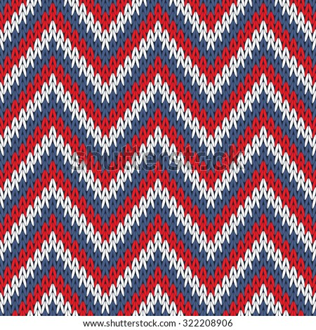 Abstract knitted seamless pattern background. Raster version. - stock photo
