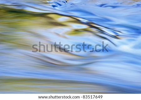 Abstract landscape of the Presque Isle River rapids, Porcupine Mountains Wilderness State Park, Michigan's Upper Peninsula, USA - stock photo