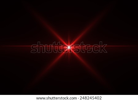 Abstract laser star red (super high resolution) - stock photo