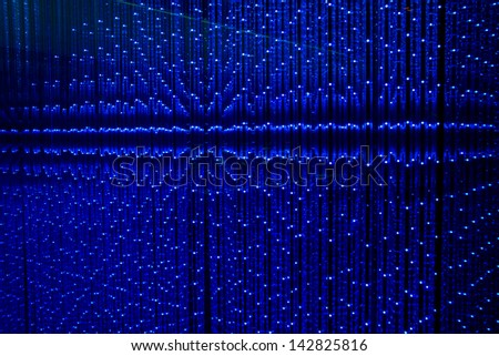 Abstract led light background - stock photo