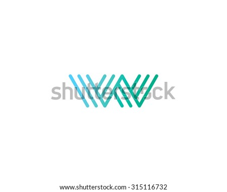 Abstract Letter b logo design template. Line symbol. Premium elegant sign mark icon - stock photo
