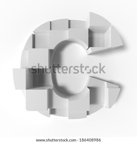 abstract letter C - stock photo