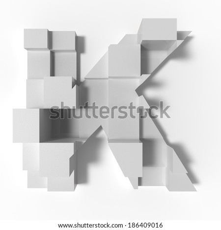 abstract letter K