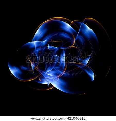 Abstract light background with luminous swirling backdrop. Glowing spiral. The energy flow tunnel. Shine round frame with light circles light effect. glowing cover. Space for your message.  - stock photo