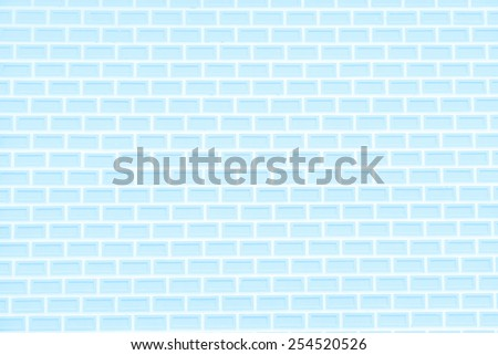 Abstract light blue brick wall background