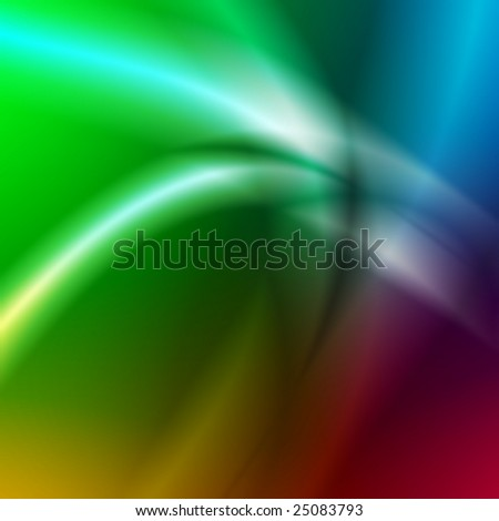 abstract light blured lines over rainbow background - stock photo