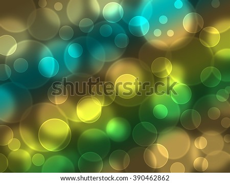 Abstract Light Bokeh Background, Illustration bokeh background