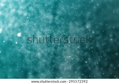 abstract light bokeh blue background - stock photo