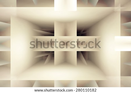 Abstract light brown shapes background - stock photo