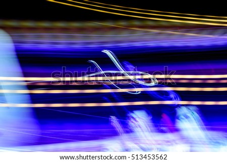 Abstract light Color,Night Light abstract background.