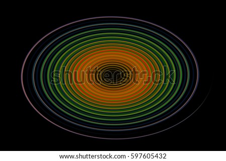 Concentric Circles Color Wheel Shine On Stock Illustration