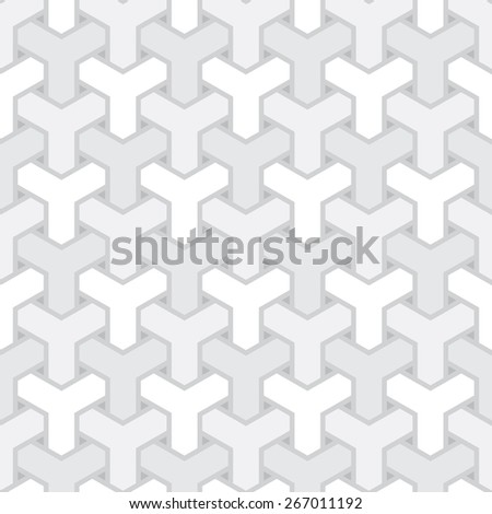 abstract light grey net seamless pattern - stock photo