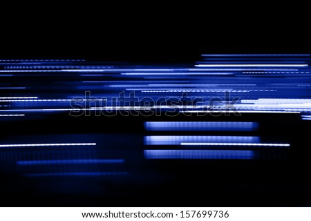 Abstract light lines . Abstract glowing blue lines - stock photo