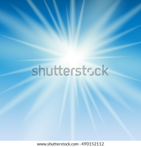 Abstract Light on Blue Background  Illustration