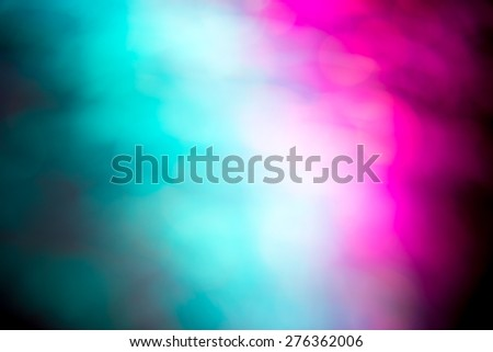 Abstract Light painting, Colorful tone on black background -  long exposure time lapse and technique and blurred picture style - stock photo
