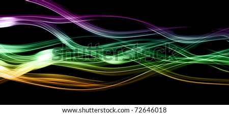 Abstract light trails - stock photo