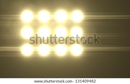 Abstract  lighting flare - stock photo