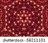 Abstract Lighting Mandala Background - stock photo