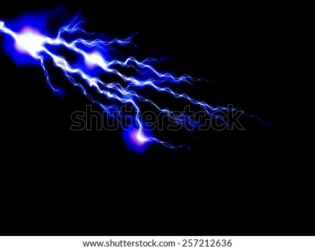 abstract lightning and light effects on a dark background - stock photo