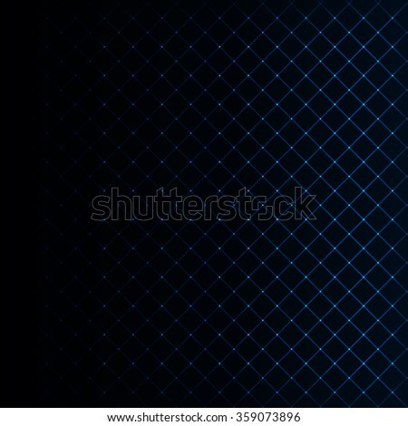 Abstract lights azure strips on dark background - stock photo