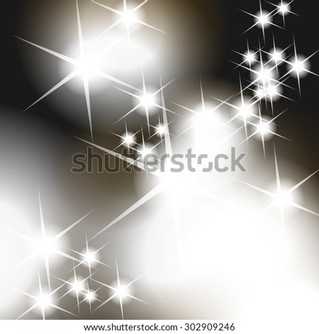 Abstract lights background, sparkling lights and stars, christmas background
