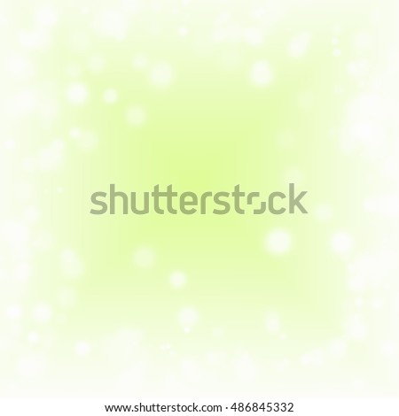 Abstract lights green background with bokeh.