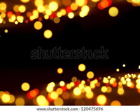Abstract lights on black background