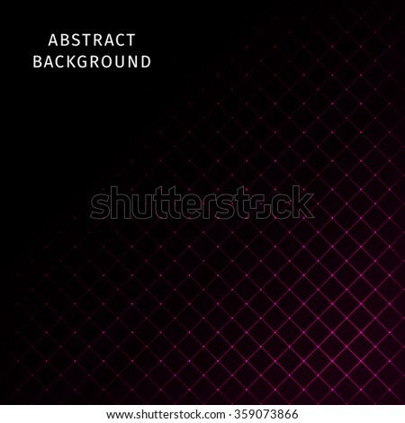 Abstract lights pink strips on dark background - stock photo