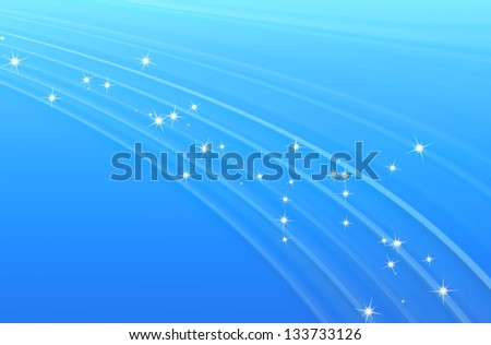 Abstract line glowing texture with soft blue background - stock photo