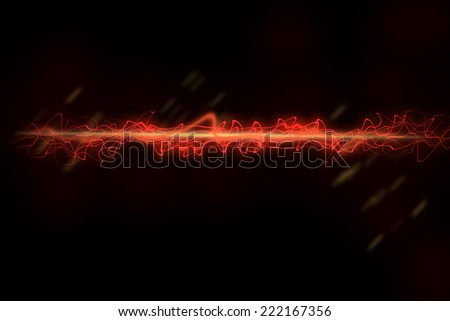 abstract line on black. - stock photo