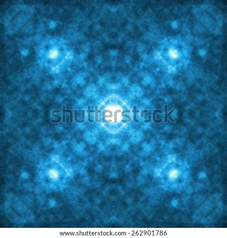 Abstract lines and light, futuristic digital background - stock photo