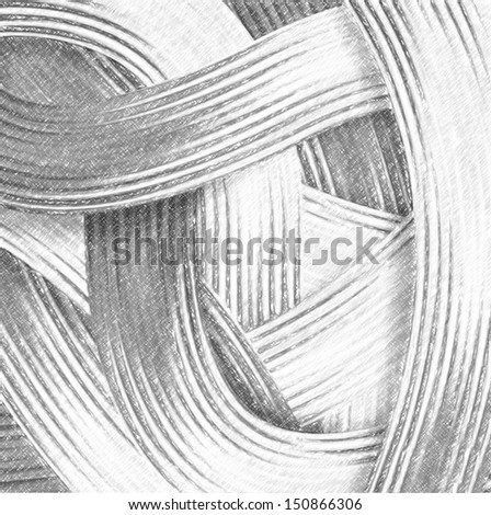 Abstract lines background. Computing realistic sketch style.