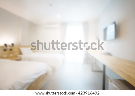 abstract loft bedroom in hotel. - stock photo
