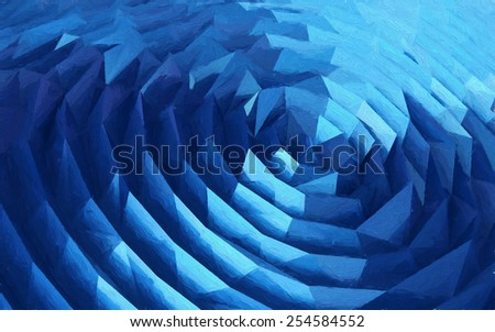 Abstract low polygon background. 3d render with paint effect.