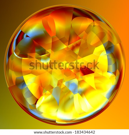 Abstract Lucent Illuminated Fortune Teller Crystal Ball - stock photo