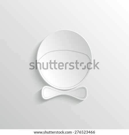 Abstract man 3D paper icon. Avatar. Gender icon. raster version illustration. - stock photo