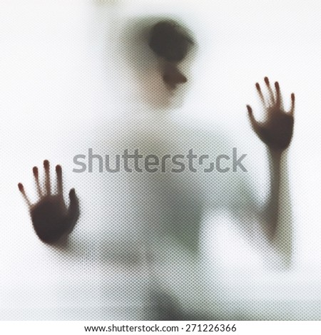 Abstract Man Shadow - stock photo