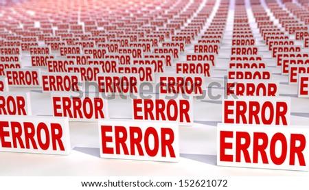abstract. many errors. 3d - stock photo