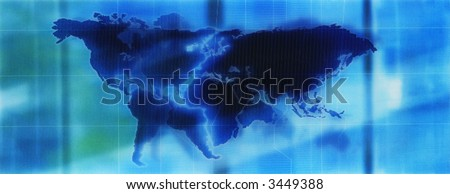 abstract map of the world - stock photo