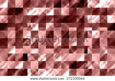 abstract marsala color background with square pattern - stock photo