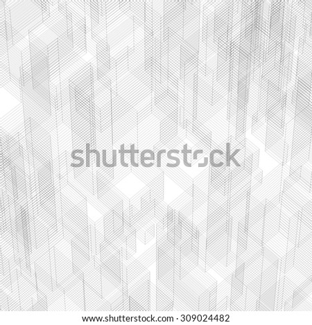 Abstract matrix wireframe space background. - stock photo