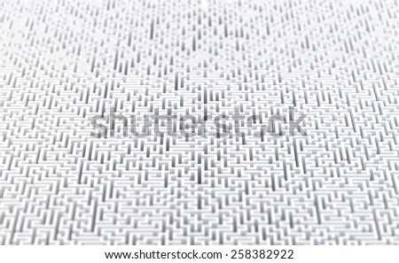 Abstract maze background. 3d illustration - stock photo